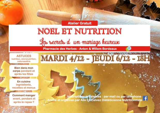 Banderole Noël et Nutrition